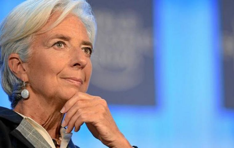 """In response to financial volatility, exchange rate flexibility should continue to play a role in buffering shocks in emerging economies,"" Lagarde stated"