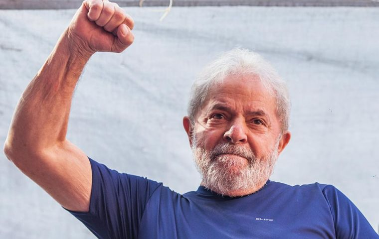 Ex president Lula da Silva is incarcerated in Curitiba