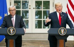 Trump and Juncker at the White House said they agreed to hold sweeping trade talks on reducing tariff, subsidy and non-tariff barrier reductions