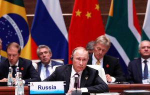 """Closer economic cooperation for shared prosperity is the original purpose and priority of Brics"" underlined Russian President Vladimir Putin"