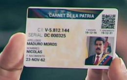 Maduro ordered a national census on 3-5 August to determine how many vehicle owners possess a homeland identity card, a document created in first quarter 2017