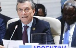 "BRICS countries ""have a positive outlook of our future,"" said Macri, who attended the Johannesburg summit as the current president of the G20"