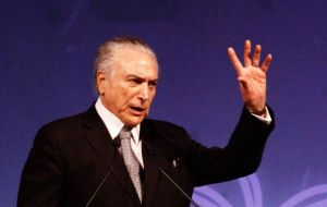 """My greatest desire right now is that what was started does not come to an end. We need to continue"", president Temer said at an event in FIESP"