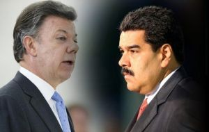 "Relations between the two leaders have been tense, with Maduro describing Colombia as a US ""lackey"" and Santos predicting imminent ""regime change"""