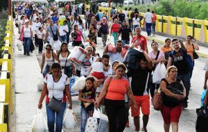 Hundreds of thousands of Venezuelans have flooded into Colombia as they flee food and medicine shortages, as well as failing public services