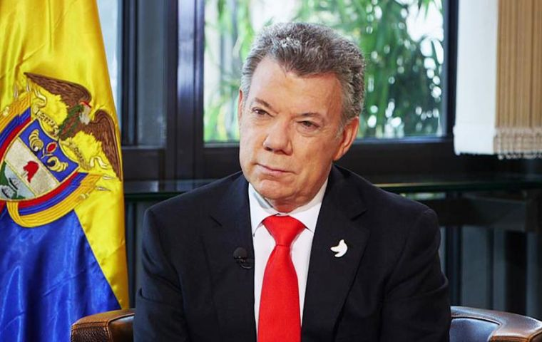"""A country with the level of inflation that Venezuela has... that regime has to fall"", Santos said of Maduro's future"