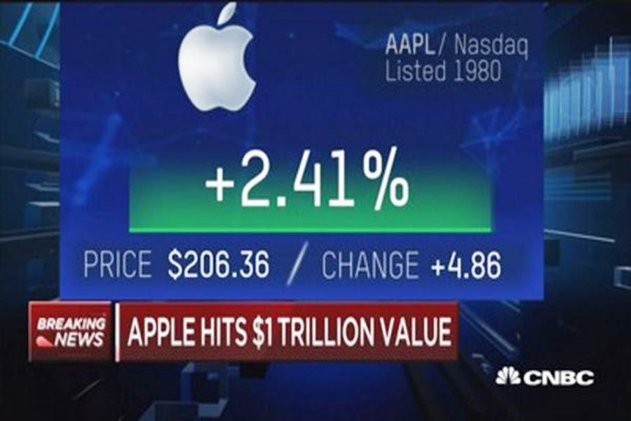 Apple officially becomes the first $1 trillion company