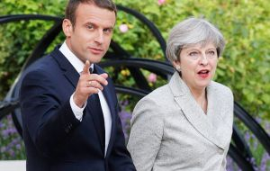 The government has been touting its plans for Brexit agreed at Chequers to the EU and its leaders. French President Emanuel Macron met Theresa May on Friday