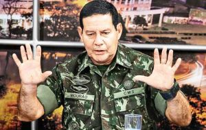 Mourao made headlines last year with comments perceived as supportive of military intervention in politics at a time of widespread corruption
