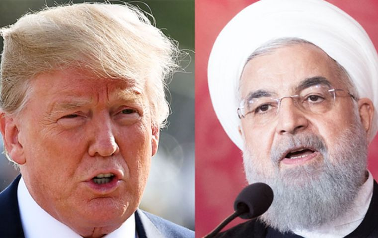 """We urge all nations to take such steps to make clear that the Iranian regime faces a choice"", President Donald Trump said in a statement on Monday."