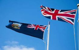 A second pole could also be installed which would allow both the Union and Falkland flags to fly side-by-side