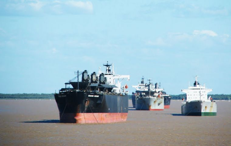 The Parana is used to transport some 80% of Argentina's agricultural and agro-industrial exports but a drought in south Brazil has dropped its level