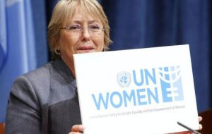 The pediatrician-turned-politician first served as president of Chile from 2006 to 2010. Bachelet then led U.N. Women, a body for gender equality 2010/13
