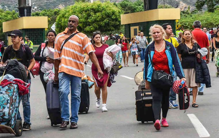 Since Venezuela's economic deterioration and nationwide food shortages, Venezuelans have fled to neighboring countries in efforts to escape the crisis
