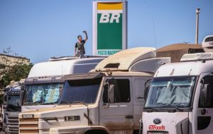 Truckers protesting high diesel prices blocked major highways in May, forcing farmers to cull flocks and dump milk, and driving widespread product shortages