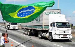 The new law requires truck freight prices to be equal to, or above, minimum prices set by Brazil's national transport agency ANTT