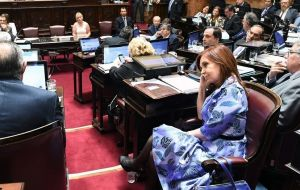 On Wednesday the Senate will debate removing Cristina Fernandez Senator immunity. So far the opposition has denied the initiative
