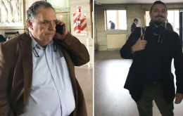 Juan Grabois is an advisor of Pope Francis and Eduardo Valdés is a former ambassador to the Vatican during the last period of Cristina Fernandez president (Pic Infobae)