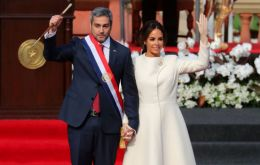 "Abdo Benitez, 46, promised to combat poverty and entrenched corruption, and urged Paraguayans to ""look toward the future and not remain stuck in the past"""