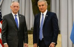 Mattis and Aguad announced no specific agreements, but both said they hope for better defense relations between their two countries