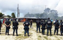The deployment was announced after dozens of Brazilians in Pacaraima attacked makeshift immigrant camps a local merchant was stabbed, beaten and robbed