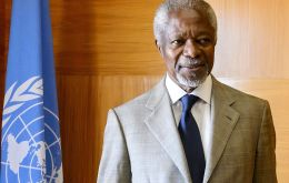 Annan served two terms as UN chief from 1997 to 2006, and was awarded a Nobel Peace Prize for his humanitarian work
