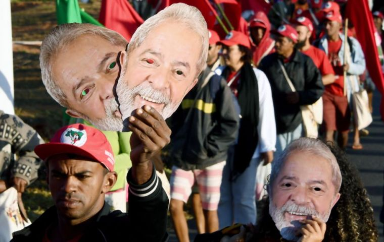 Electoral authorities are expected to ban Lula from the election on a corruption conviction. However he has 37.3% of voter intentions, up from 32.4% in May