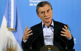 """For me, there is no doubt: In Venezuela, human rights are systematically violated by steamrolling the opposition and everyone"" said president Macri"