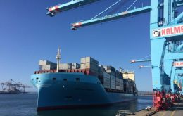 Venta Maersk and carrying 3,600 containers, hopes to reach St Petersburg by late September. That could be up to 14 days faster than the route via the Suez Canal