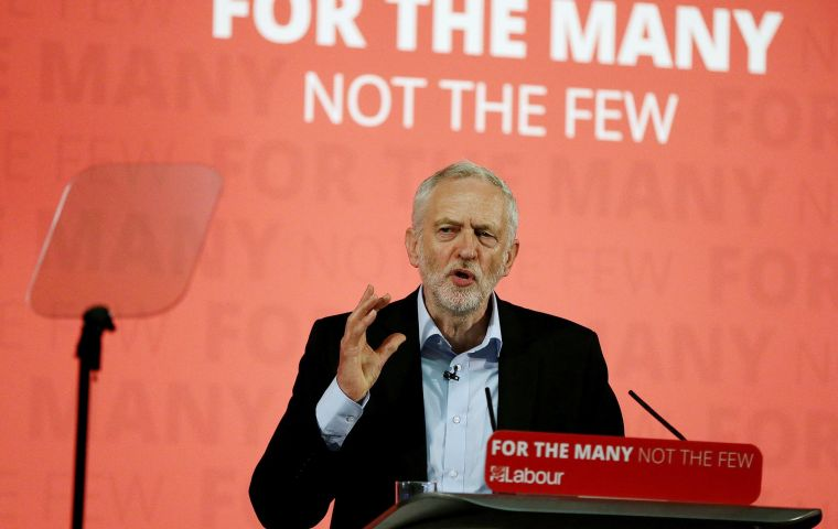 Corbyn has been subject to fierce attacks by sections of the British press and has criticized leading tech firms over tax avoidance and data misuse