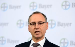 "CEO Werner Baumann said that when it bought Monsanto, Bayer ""could not foresee the scope of the current lawsuits"""