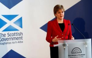 Scotland's First Minister Nicola Sturgeon has previously said she will decide whether to back a second referendum on independence by the end of 2018