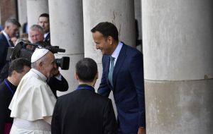 Pope Francis heard Mr Varadkar, a gay man, speak out against the traditional Catholic teaching on the family