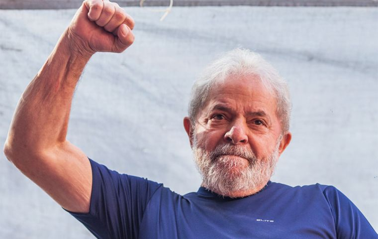 Lula is leading polls by a long stretch ahead of the Oct. 7 vote despite not being able to campaign or take part in presidential debates