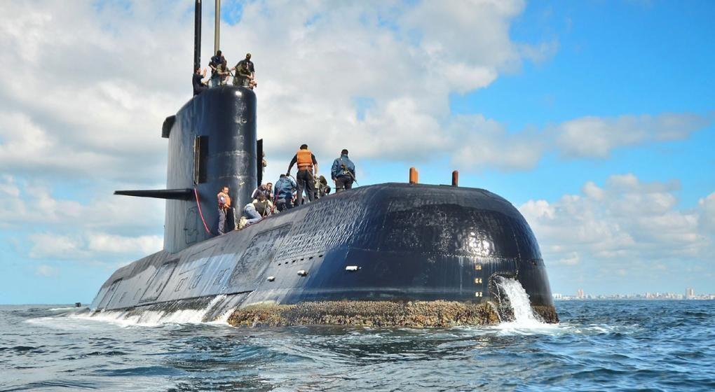 El submarino argentino ARA San Juan desapareció el 15 de noviembre con los 44 tripulantes a bordo
