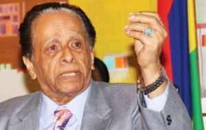 """Unfortunately, we have been threatened with retaliation… on issues of trade, investment, you know, and on our relationship with the UK,"" Mr Jugnauth added"