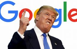 "President Trump said Google had ""really taken a lot of advantage of a lot of people, it's a very serious thing"""