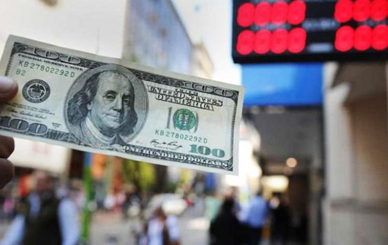As the US dollar on Thursday trading rapidly climbed from Wednesday's 34 Pesos to over 36 Pesos, the Central bank raised its benchmark interest rate to 60%