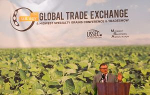 A delegation of Chinese soybean importers did attend the U.S. Soybean Export Council's annual Global Trade Exchange conference in Kansas City