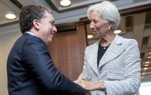 "IMF Managing Director Christine Lagarde, Fund staff and Finance Minister Nicolas Dujovne are scheduled to meet on Tuesday ""to advance the dialogue"""