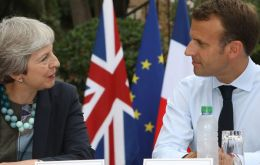 PM May holidayed in Italy, then met President Macron on the Cote d'Azur before travelling to South Africa, Nigeria and Kenya last week on an official visit  (Pic PA)
