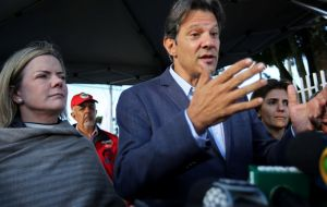 Fernando Haddad, an ex mayor of Sao Paulo and Lula's choice as candidate for the presidency next month