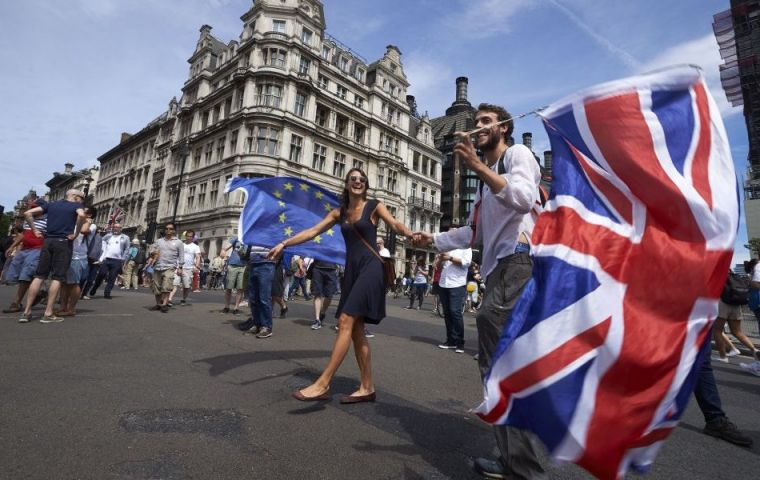 Published by research bodies NatCen and The UK in a Changing Europe, it is the highest recorded support for Remain in a series of five such surveys since 2016. Photo: Getty