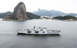 PHM Atlantico entering her home port of Rio do Janeiro