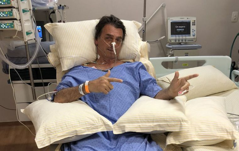 Bolsonaro, 63, remains in intensive care as the perforations of his intestines keep doctors watching for any internal infections