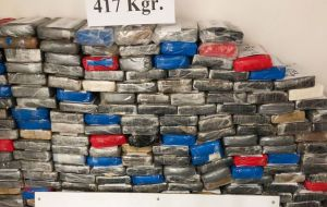 The search of the 40 ft. container was ordered by Prosecutor Monica Ferrero. It is estimated the street value of the cocaine in Europe could reach US$ 24 million