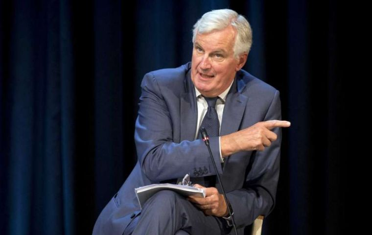 "Barnier, the EU's chief negotiator, told a forum in Slovenia that it was ""realistic"" to expect a divorce deal with Britain, the British embassy to Slovenia said on Twitter"