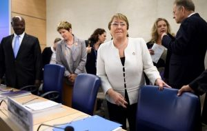 "High Commissioner Bachelet indicated that she continued ""receiving information about violations of economic and social rights, such as cases of deaths related to malnutrition"""