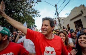 Support for Haddad, former mayor of Sao Paulo, is rising, according to opinion polls released this week, but he does not have the national name recognition of Lula