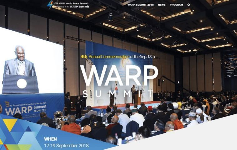 The peace summit by HWPL will be held in South Korea from 17th to 19th on September
